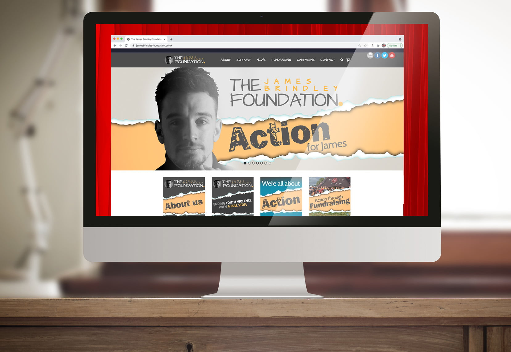 James Brindley Foundation website supported by expressive design
