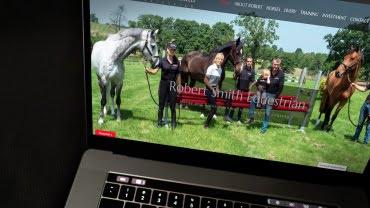 Robert Smith Equestrian website by expressive design
